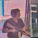 CCTV captures the moment Patrick Crusius enters the Walmart with an assault rifle. Picture: AFP