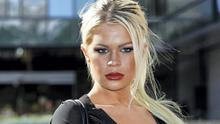 Chloe Goins, a model who claims entertainer Bill Cosby drugged and sexually abused her at the Playboy Mansion.
