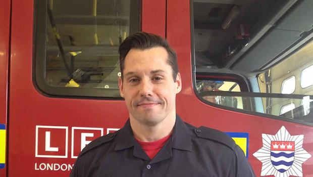 Firefighter James Stennett, who turned midwife when he delivered a baby yards from his fire station