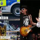 British Transport Police's meme effort, and Dolly Parton at Glastonbury in 2014 (BTP/Yui Mok/PA)