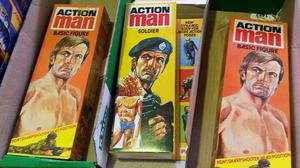 Pristine Action Man toys that were stored in the garage and loft of a former Palitoy salesman