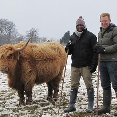 JB Gill from JLS picks up some farming tips on Countryfile