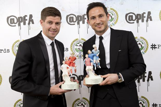 Frank Lampard could go head-to-head with Rangers boss Steven Gerrard if he takes over at Celtic (Barrington Coombs/PA)