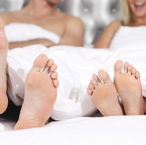 Couples are increasingly inclined to bed down solo, according to research which suggests the double bed may soon be a thing of the past