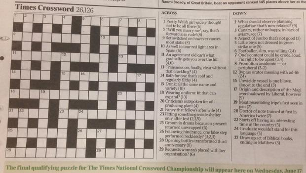 Matthew Dick arranged for the Times crossword to contain a hidden marriage proposal to his girlfriend of two and a half years