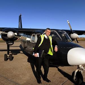 Stuart Linklater will make his final trip on the route between Westray and Papa Westray (Loganair/PA)