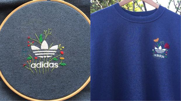 A floral embroidered adidas logo – (Photos courtesy of Shibby Hussain)