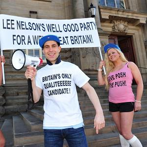 TV comic Lee Nelson, created by funnyman Simon Brodkin, has pulled out of the South Shields by-election