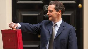 The Sun portrayed Chancellor George Osborne strutting like the character Dave in the TV advert for Money Supermarket in its Budget coverage