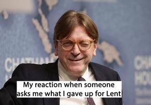 Guy Verhofstadt is asked what he gave up for Lent