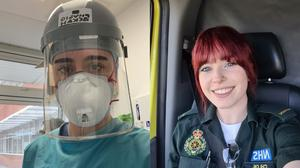 The EFL is celebrating fans working in the NHS (Bekah Arkle and Chloe Chesterman)