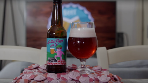 Percy Pig beer (Beer Uncapped/Youtube)