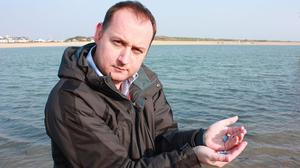 Dr Alex Ford, a marine biologist, who led a study that found tiny quantities of anti-depressants are affecting the fertility of aquatic wildlife (University of Portsmouth)