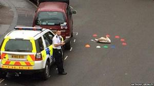 Swans were chased in Bath before one bird decided to take a nap in the middle of the road (Avon and Somerset Police/PA)