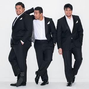 Sol3Mio members Pene and Amitai Pati and their cousin Moses Mackay found their fundraising venture for further study in Wales has netted them an album deal (Sol3mio.com//PA)