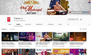T-Series YouTube channel has more than 78.7 million subscribers (PA)