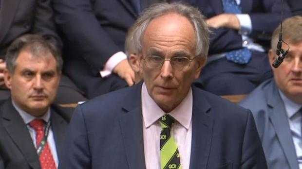 A reference to Peter Bone's wife was met with laughter in the Commons