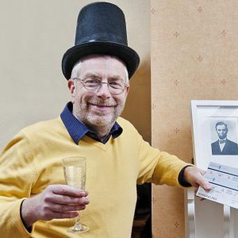 Robert Gilchrist, 61, of Sydenham, London who has been confirmed as a living relative of US president Abraham Lincoln (Illinois Office of Tourism/PA)