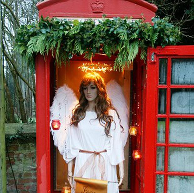 The phonebox in the village of Marden, near Devize, which is to be twinned with a phonebox in south Devon (Lalu Carter/PA)