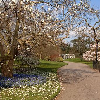The UK's parks and gardens are a big attraction for overseas visitors, VisitBritain said