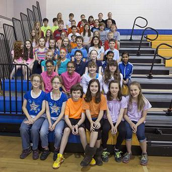 Twenty-four sets of twins at Highcrest Middle School in Wilmette, Illinois, are hoping to set a new record (AP)