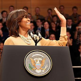 Twitter users have been commenting on Michelle Obama's fringe
