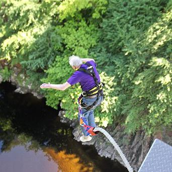 Bob Steele becomes the oldest bungee jumper in Europe on his 90th birthday (Highland Fling Bungee/PA Wire)