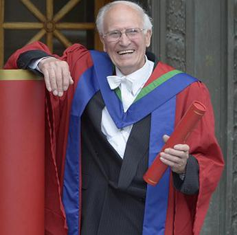 David Dick has collected his PhD from Edinburgh's Napier University at the age of 84