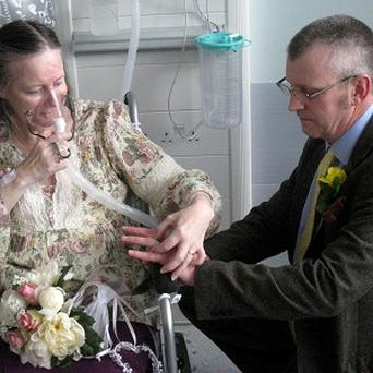 Lynda and Mike Rowland were married at the Princess Alexandra Hospital in Harlow, Essex (Princess Alexandra Hospital, PA)