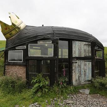 The boat-shaped shed owned by Alex Holland, of Powys, which was crowned Shed of the Year (Arvid Parry-Jones/Cuprinol/PA)