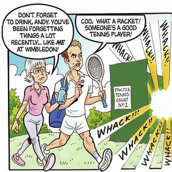 Andy Murray and Judy Murray as they appear in the 75th anniversary issue of The Beano