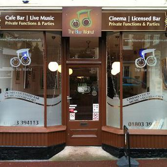 The Blue Walnut cafe in Devon which claims to house the smallest cinema in the UK (Waycotts Chartered Surveryors/PA)