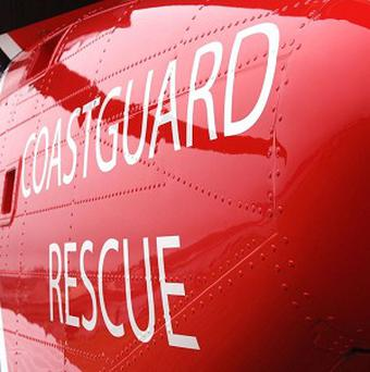 The Coastguard airlifted the two men to safety after they were missing for twelve hours.