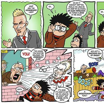 The 75th anniversary issue of The Beano that stars David Bechkam and Sir Alex Ferguson