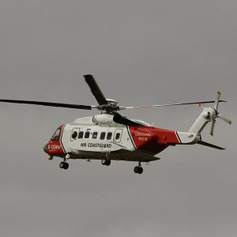 The Coastguard helped winch the man to safety
