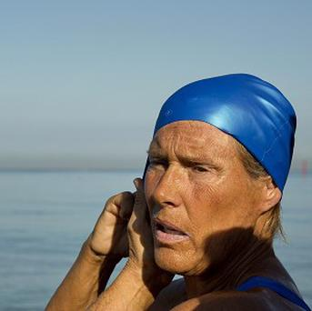 Endurance swimmer Diana Nyad is trying to set an open-water record from Havana to the Florida Keys (AP)