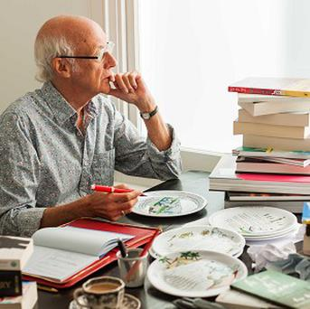 Roger McGough has created teatime tales for children aged three to 10 which have been printed on a quarter of a million plates. (Birds Eye/PA)