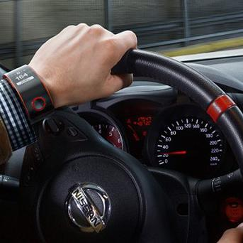 Nissan's Nismo Concept Watch can measure the efficiency of a vehicle, including average speeds and fuel consumption (Nissan/PA)