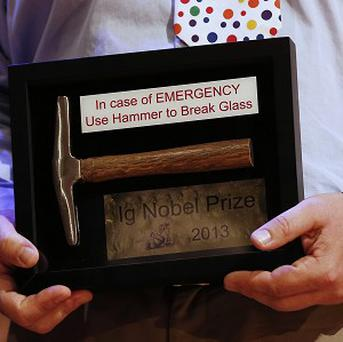 The Ig Nobel awards are given out to honour weird and humorous scientific discoveries (AP/Winslow Townson)