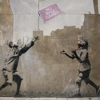 A Banksy original - he reportedly sold others for as little as £40 from a New York market stall