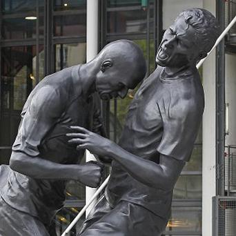 The statue shows French footballer Zinedine Zidane headbutting Italy's Marco Materazzi (AP)
