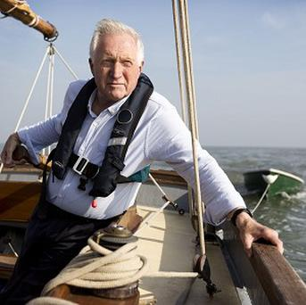David Dimbleby during filming of the maritime series Britain And The Sea (BBC/PA)