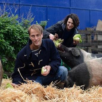 Food waste expert Tristram Stuart and chef Thomasina Miers as they call for change to the way we feed our pigs