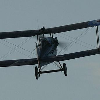 Wooden wing sections from a First World War bi-plane have been saved by RAF conservation experts