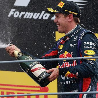 A helmet worn by Red Bull Racing's Sebastian Vettel has been sold for £72,000 in a charity auction.