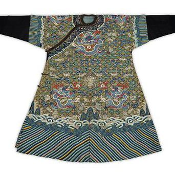 The 200-year-old Chinese imperial robe which has been sold for 15,000 pounds (Lyon and Turnbull/PA)
