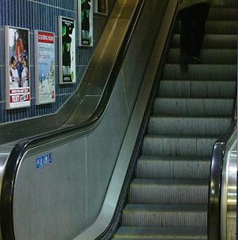 Network Rail has released footage of some of the slips and falls experienced on escalators at stations across the country