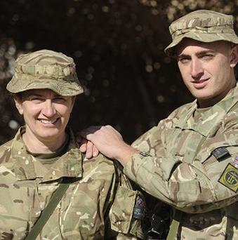 Mother and son, Lance Corporal Sonia Doddrell and Private Mark Doddrell, from Lancaster