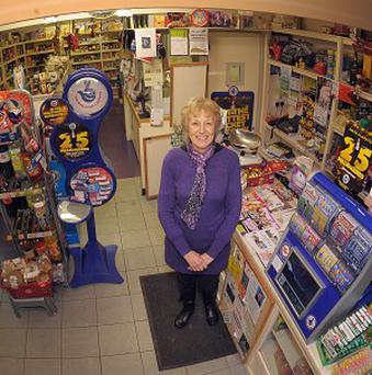 Diane Bell, 63, in her shop Nettleton Stores, Wiltshire, and who is recognised by the Queen in the New Year Honours List for services to the community