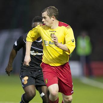 Albion Rovers star Alan Reid in action. Fans could pay what they liked to see the team against Montrose.